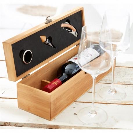 Coffret bambou 3 accessires pour bouteille de vin
